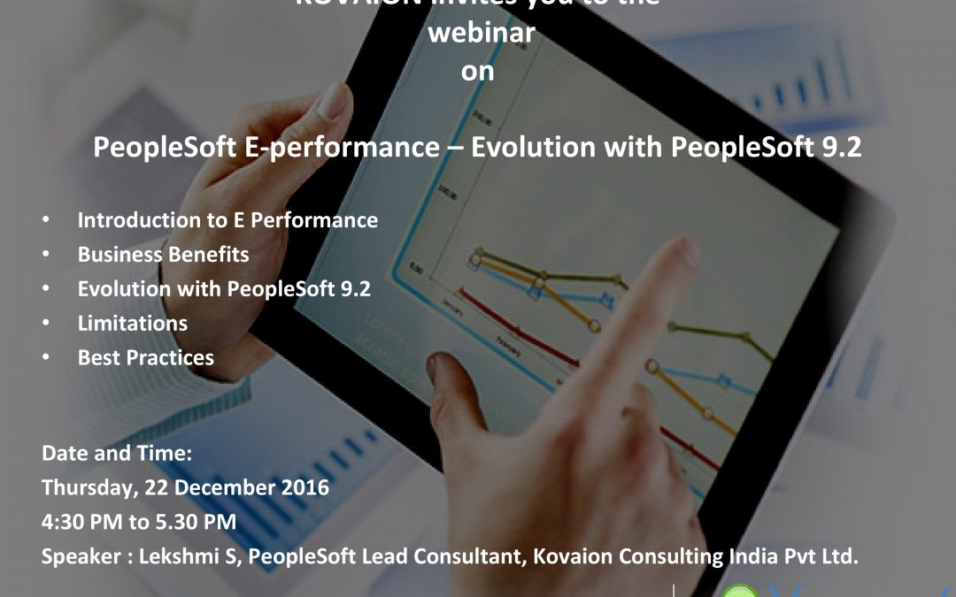 Webinar Session on PeopleSoft e-Performance – Evolution with PeopleSoft 9.2