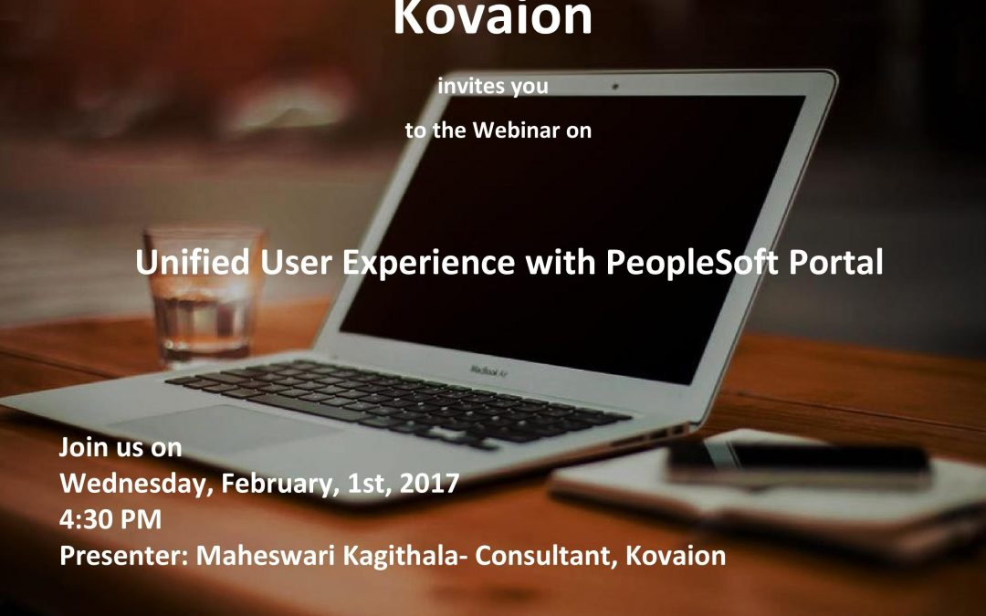 Webinar Session on Unified User Experience with PeopleSoft Portal