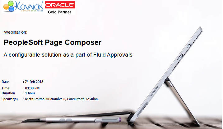 Peoplesoft Fluid Approvals and Page Composer