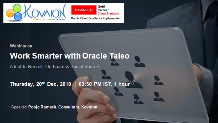 Work Smarter with Oracle Taleo
