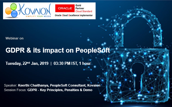 GDPR & its impact on PeopleSoft