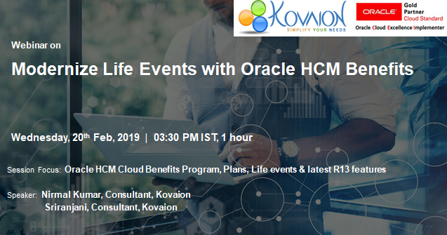 Modernize Life Events with Oracle HCM Benefits