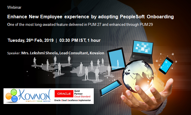 Enhance New Employee experience by adopting PeopleSoft Onboarding