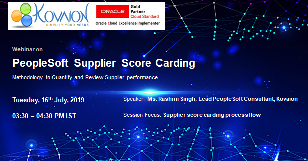 PeopleSoft Supplier Score Carding