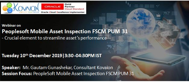 PeopleSoft Mobile Asset Inspection