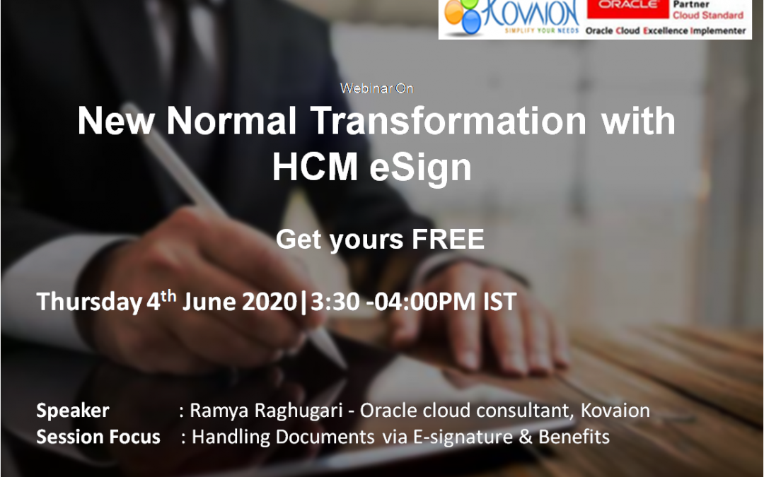 New Normal Transformation with HCM eSign